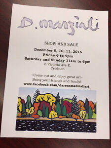 Artist Show and Sale by Darren Marziali London Ontario image 1