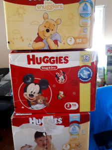 Huggies diapers 3 boxes size 2