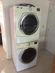 "Whirlpool 27"" White Front Load Washer Dryer For Sale"