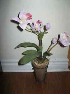 BEAUTIFUL TALL ARTIFICIAL ORCHID with POT & STAND