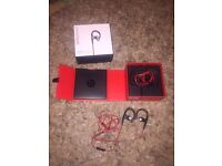 Beats by dr dre power beats wired headphones. Apple 100% authentic. iPhone Samsung solo studio watch