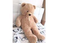Giant soft teddy bear