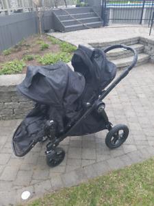 Poussette double City Select de Baby jogger - Noire; Alma