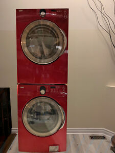 Kenmore Elite Red Washer and Dryer