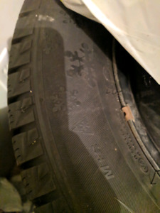 """4 Winter tires 14"""" with rims"""