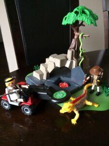 Playmobil - Aventuriers avec gros lézard