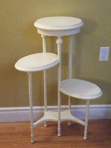 Vintage Wood Cottage Shiek Plant Stand or Multi-Tiered Table
