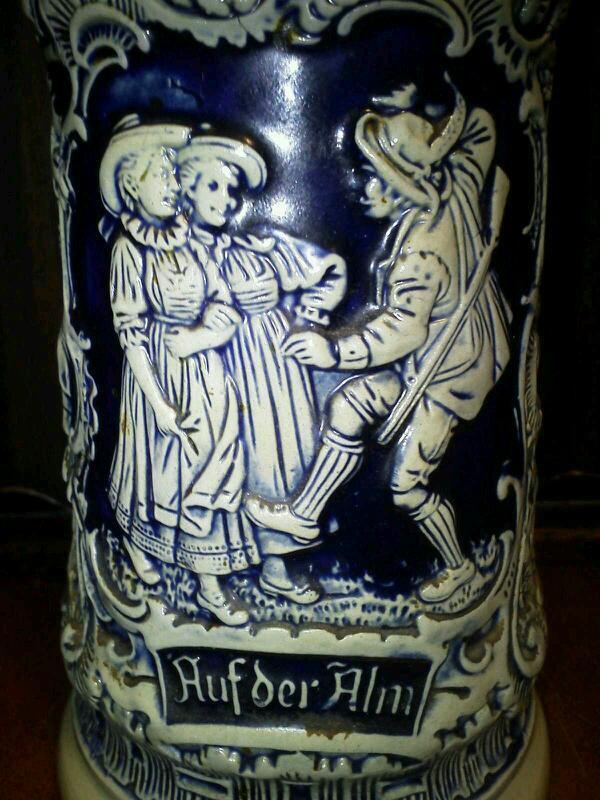german thewalt auf der alm stein cobalt stoneware salt glaze 165