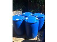 4x 205 litres plastic barrels £7.50 each