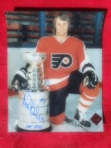 BILL BARBER Signed Philadelphia Flyers 8 X 10 Photo With COA