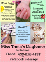 Registeres dayhome in Airdrie! (Day home, day care)