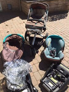 Quinny Buzz 3 Stroller with Dreami Basinet and Maxi Cosi Seat