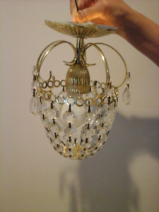 Chandelier very good quality and condition $35,$45