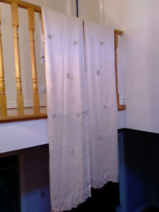 """Window Curtains 50"""" wide X 90"""" long,  $25/Pair"""