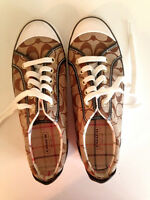 COACH Francesca Low Top Logo Sneakers Size 8