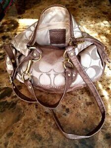 Coach crossbody bohemian purse