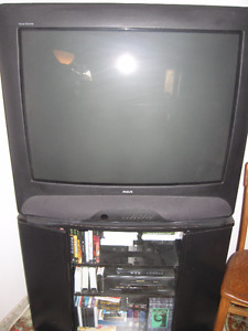 RCA tube TV with remote and stand