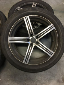4 MAGS  5 x 114.3 265/45 R20  5x114.3  052 20x7.5  265-45-20