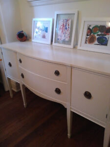White Painted Sideboard/Credenza