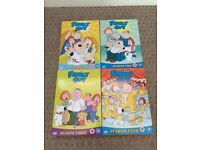 Family guy series 1-4 on DVD