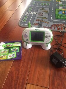 Leapster Explorer, charger, camera and games