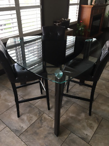 High Top Glass Dining Table