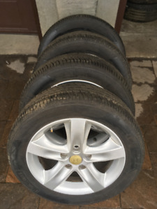 4 ORIGINAL 16'' HYUNDAI/KIA MAGS ON 4 TIRES 205/55/16 MOTOMASTER
