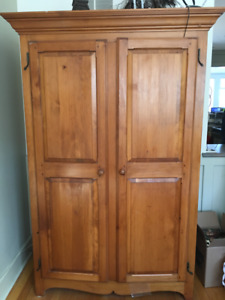 Wooden Armoire, handcrafted in Nova Scotia