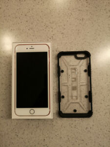 iPhone 6S plus 128gb Rose Gold + UAG Case