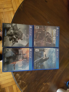PS4: CoD: AW, BF1, D2, FF15