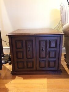 Set of 2 wood end tables - with great storage