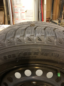 pneus d'hiver/winter tires 4X aver jantes