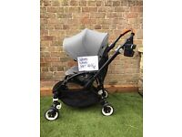 Bugaboo bee 3 with cupholder, raincover bag and snack tray