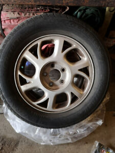 Set of 4 Summer Tires on Rims