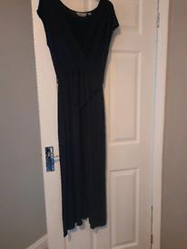 Navy blue cross front dress