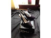 Black suede sling back size 7