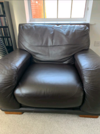 1+2+3 Seater DFS leather sofas