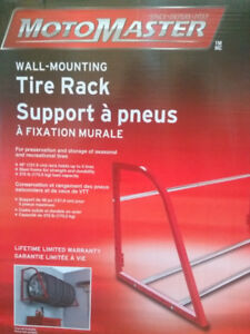 "TIRE RACK wall-mounting 48"" (holds upto 5 tires)"
