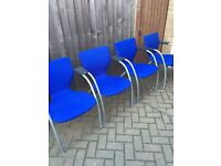 LARGE ROUND OFFICE TABLE and 4 CHAIRS