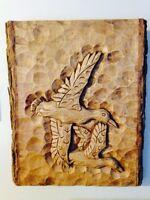 Unique live bark handcarved wood sculpture. 30y/o