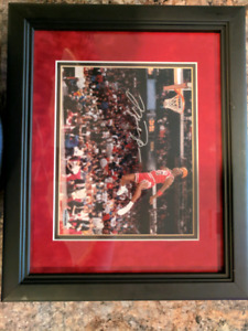 "Michael jordan signed 8x10 ""gatorade"" 1988 slam dunk"