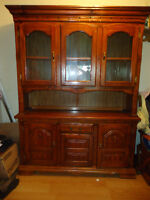 Two piece,solid wood hutch