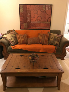 5 piece Living room sofa table set