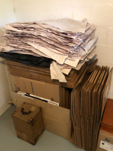 Moving boxes and blank newsprint!