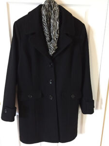 Size 13 Black Wool Coat,great for Fall or Winter,mint condition