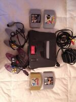 N64 bundle with pair of controllers and 4 great games
