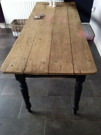 Lovely old pine pitch table