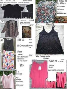 Ladies Clothing Size 22 New and Preloved