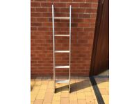 Compact lightweight double extendable ladders