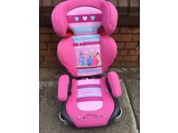 Princess car seat and booster bargain for older child